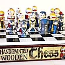 Hand Painted Wooden Chess